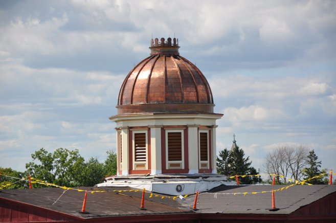 Restoration on the cupola is almost complete!