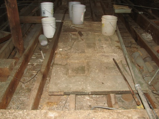 There was so much water penetrating the building when it rained that the City had to place buckets in the attic to catch the rain water and keep it from entering the spaces below the attic. The dome and roof couldn't get restored fast enough!